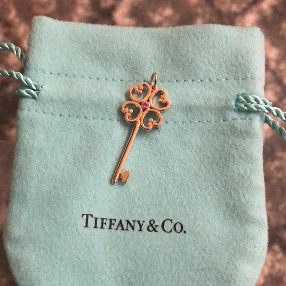 eecef1815 Tiffany & Co. Jewelry | Nwt Tiffanyco Rose Gold Quatra Key Pink ...